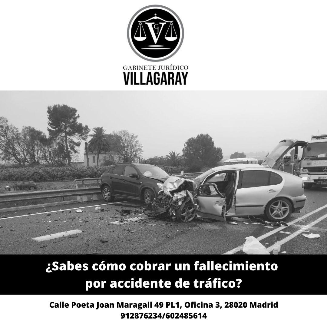 Indemnización por fallecimiento en accidente de tráfico Madrid