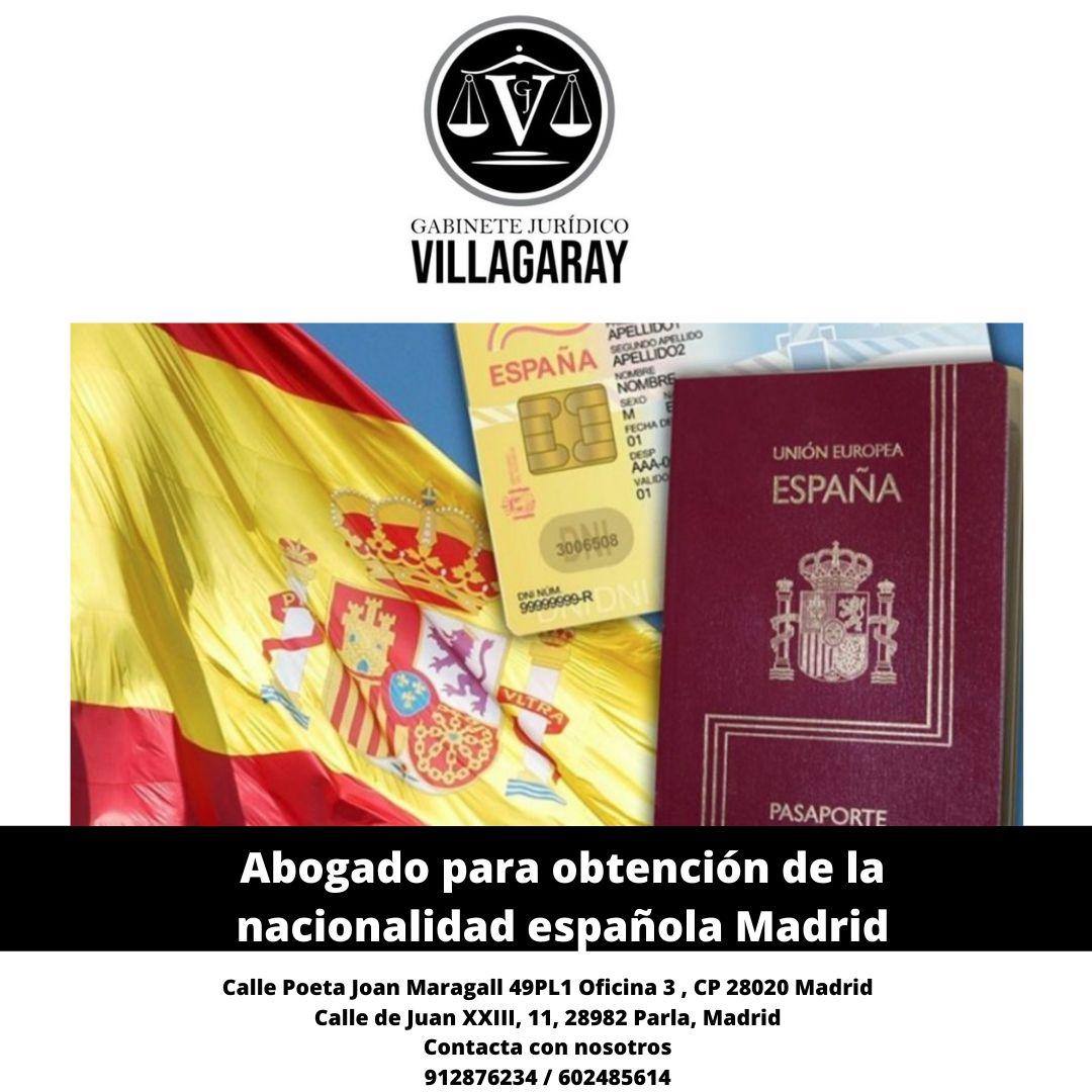 Abogado para obtención de la nacionalidad española Madrid