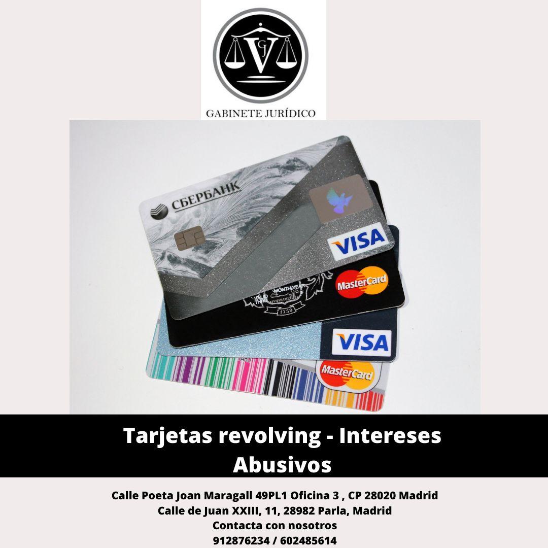Abogados tarjetas revolving intereses abusivos Madrid