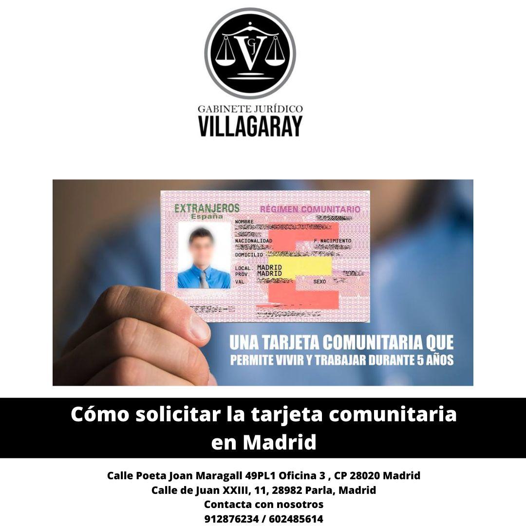 Cómo solicitar la tarjeta comunitaria en Madrid
