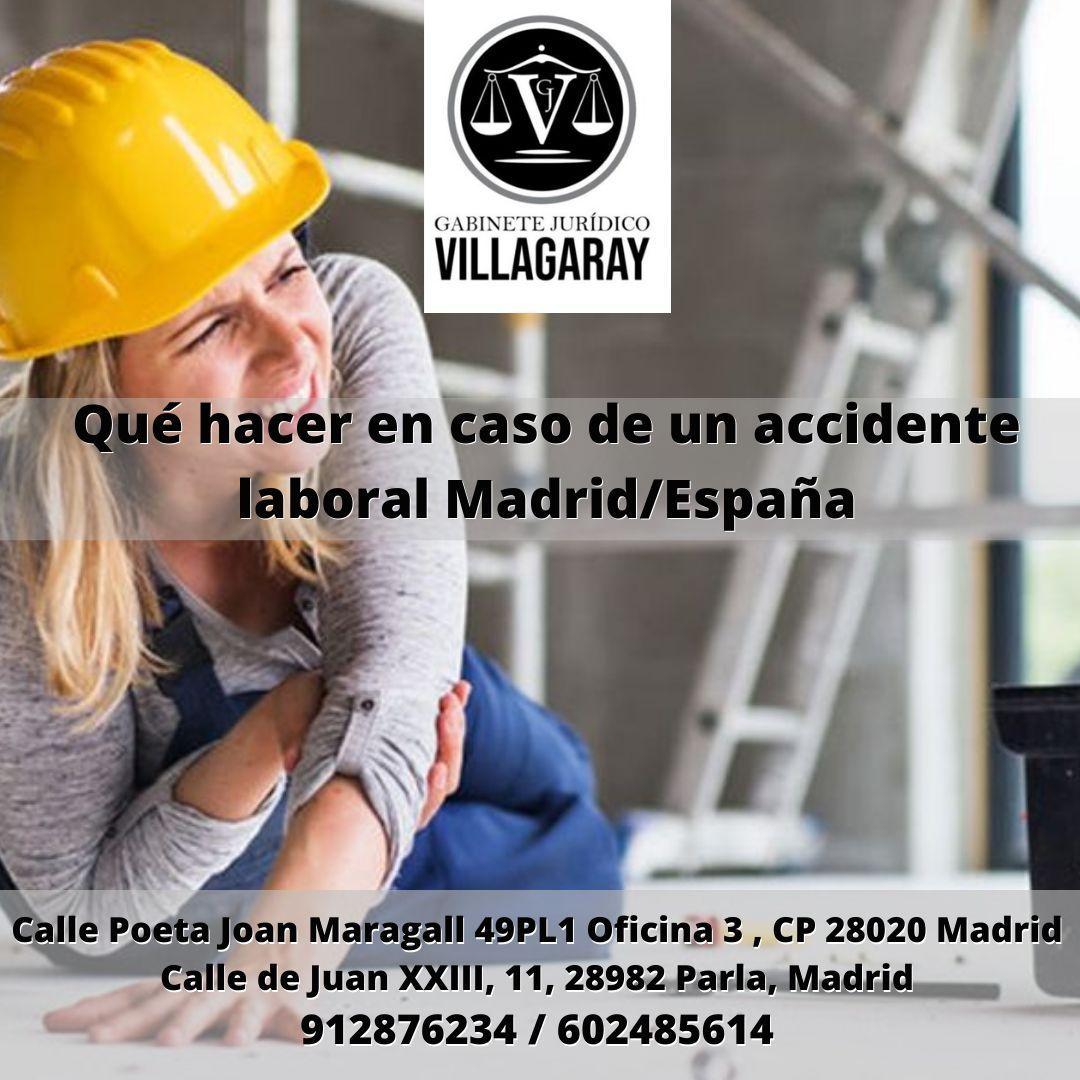 Qué hacer en caso de un accidente laboral Madrid/España