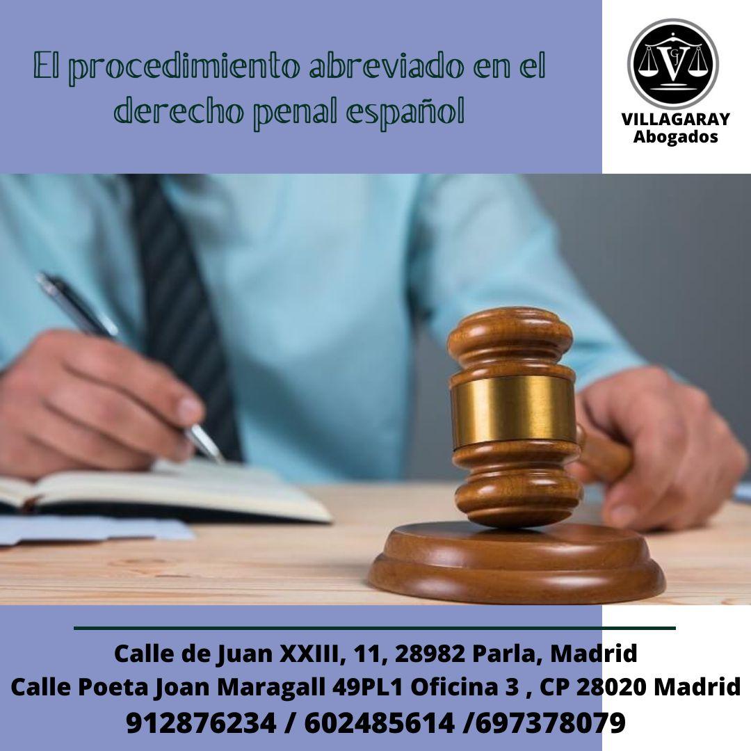 El procedimiento abreviado en el derecho penal español