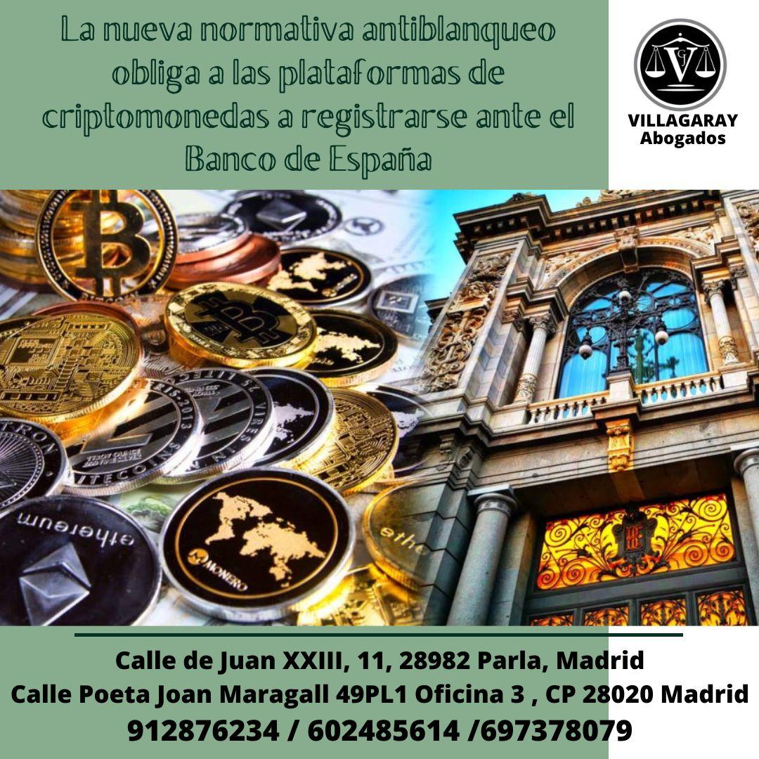 La nueva normativa antiblanqueo obliga a las plataformas de criptomonedas a registrarse ante el Banco de España